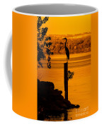Bay At Sunrise - Heron Coffee Mug