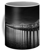 Bay Bridge San Francisco California Black And White Coffee Mug
