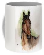 Bay Horse Portrait Watercolor Painting 02 2013 Coffee Mug