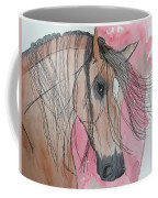 Bay Horse Watercolor Coffee Mug