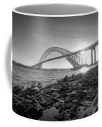 Bayonne Bridge Black And White Coffee Mug