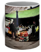 Bazaar On The Outskirts Of A Small Town Coffee Mug
