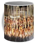 Bbq Asian Grilled Squid In Kep Market Cambodia Coffee Mug