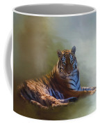 Be Calm In Your Heart - Tiger Art Coffee Mug
