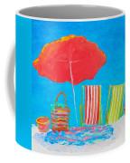 Beach Art - The Red Umbrella Coffee Mug