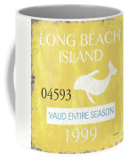 Beach Badge Long Beach Island 2 Coffee Mug