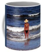 Beach Blonde - Digital Art Coffee Mug