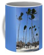 Beach Cabanas And Palm Trees Coffee Mug