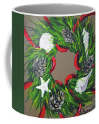 Beach Christmas Wreath Coffee Mug