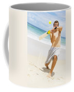 Beach Cricket Slog Coffee Mug