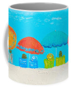 Beach Decor - Umbrellas Panorama Coffee Mug