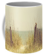 Beach Fence In Grassy Dune South Carolina Coffee Mug