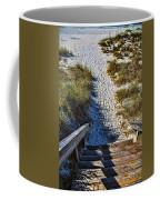 Beach Footprints - Boca Grande Florida Coffee Mug