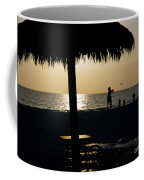 Beach Frisbee At Sunset On Marco Island Florida Coffee Mug