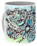 Beach Glass Flowers 1- Art By Linda Woods Coffee Mug