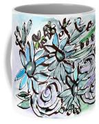 Beach Glass Flowers 2- Art By Linda Woods Coffee Mug
