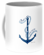 Beach House Nautical Ship Christ Is My Anchor Coffee Mug