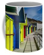 Beach Huts At Barry Island Coffee Mug