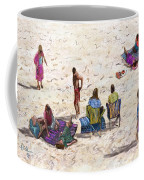 Beach Life Cornwall Coffee Mug