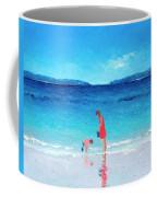 Beach Painting - Cooling Off Coffee Mug