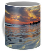 Beach Play At Dusk Coffee Mug