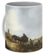 Beach Scene With Fishermen Coffee Mug