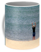 Beach Side Exercises Coffee Mug