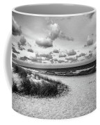 Beach Sunset Bw Coffee Mug