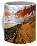 Beach Under A Blood Red Sky Coffee Mug