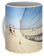 Beach Volleyball Net On The Sand At Long Beach, Ca Coffee Mug