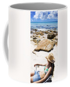Beach Woman Coffee Mug by Jorgo Photography - Wall Art Gallery