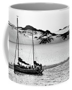 Beached At Coorong Bw Coffee Mug