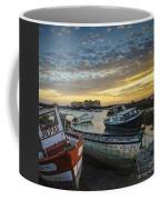 Beached Boats On Trocadero Pipe Puerto Real Cadiz Spain Coffee Mug
