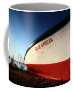 beached fishing boat at Hecla on Lake Winnipeg Coffee Mug