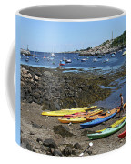 Beached Kayaks At Rockport Harbor Coffee Mug