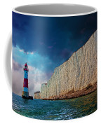 Beachy Head Lighthouse And Cliffs Coffee Mug