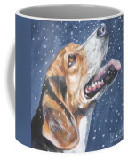 Beagle In Snow Coffee Mug