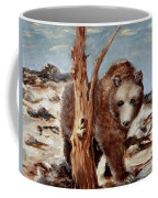 Bear And Stump Coffee Mug