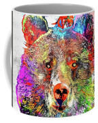 Bear Colored Grunge Coffee Mug