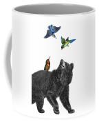 Bear With Birds Antique Illustration Coffee Mug