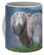 Bearded Collie In Field Coffee Mug