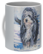 Bearded Collie In Snow Coffee Mug