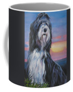 Bearded Collie Sunset Coffee Mug