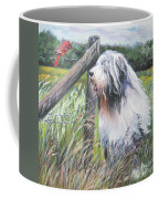 Bearded Collie With Cardinal Coffee Mug