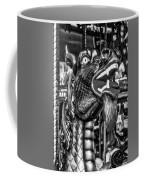 Bearded Dragon Ride Black And White Coffee Mug