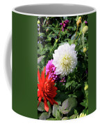 Beautiful And Fresh Dahlias In The Butchrt  Gardens,vancouver Island 1. Coffee Mug