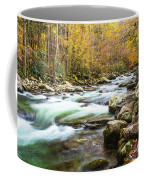 Beautiful Autumn Colors Little Pigeon River Smoky Mountains Coffee Mug