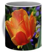 Beautiful Blooming Orange And Red Tulip Flower Blossom Coffee Mug