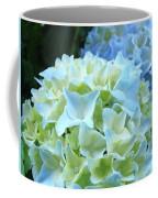 Beautiful Blue Hydrangea Floral Art Prints Creamy White Pastel Coffee Mug