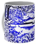 Beautiful Blue Pop Art Scene Coffee Mug